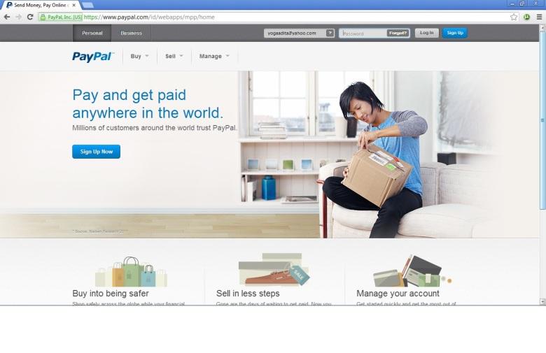 full website PayPal
