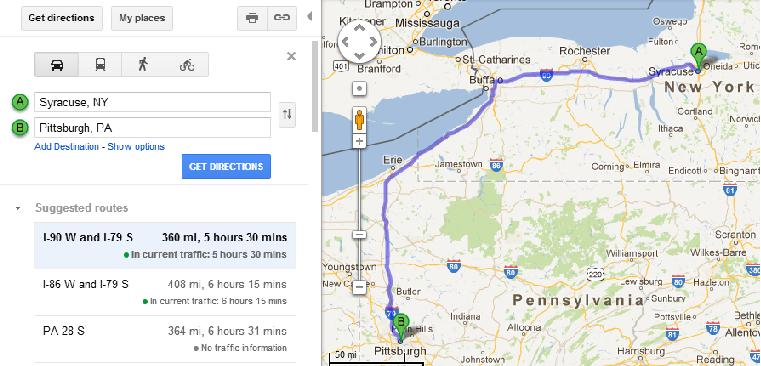 tujuan pertama: Pittsburgh di Pennsylvania