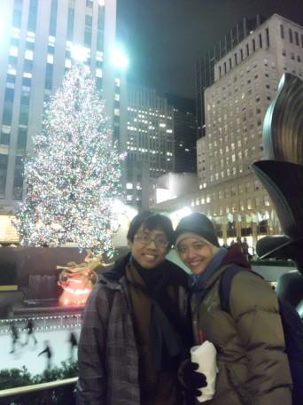 di skating rink Rockefeller Center