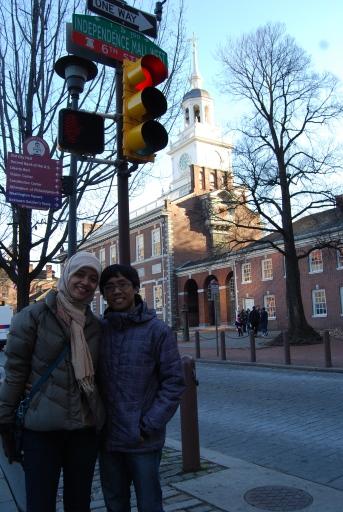bagian belakang Independence Hall