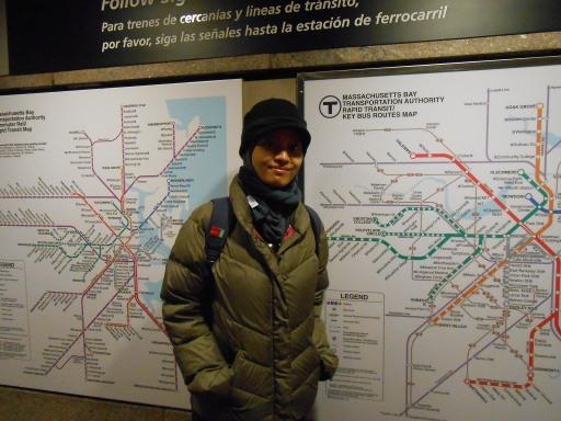 peta subway dan bis di Boston