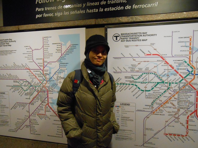 peta subway dan bis di Boston
