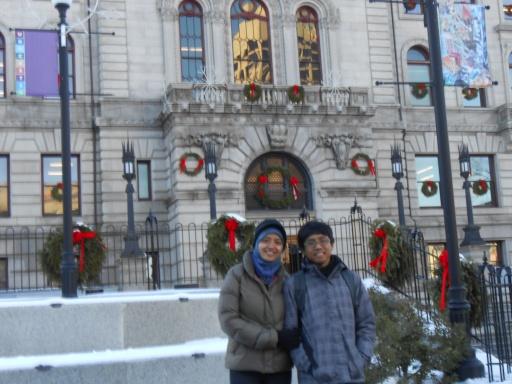 di depan salah satu bangunan Worcester