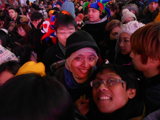 selamat tahun baru dari Times Square!