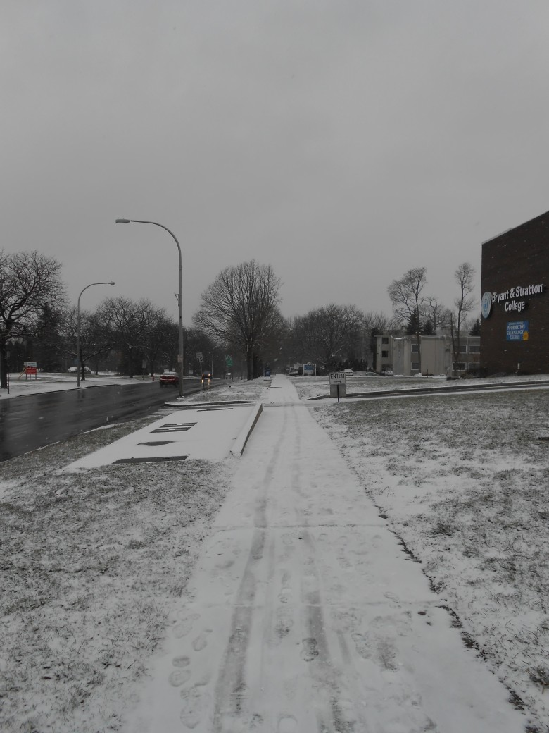trotoar penuh saljuuu