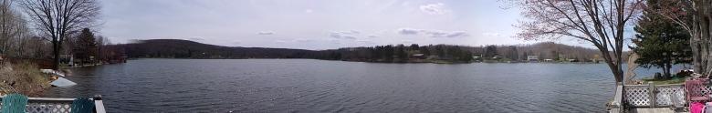 panorama pemandangan di danau