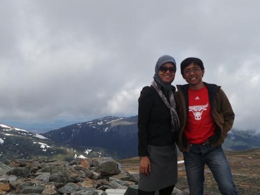 di puncak gunung! yay