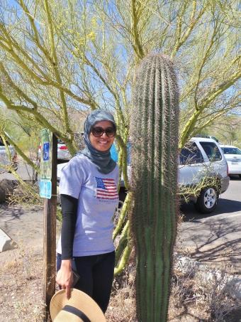 diperlukan waktu puluhan tahun bagi kaktus untuk tumbuh setinggi ini