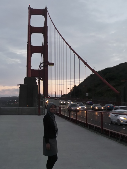 jalan-jalan sore di atas Golden Gate Bridge