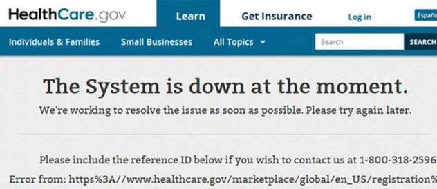 not only the healthcare website but also government currently is down